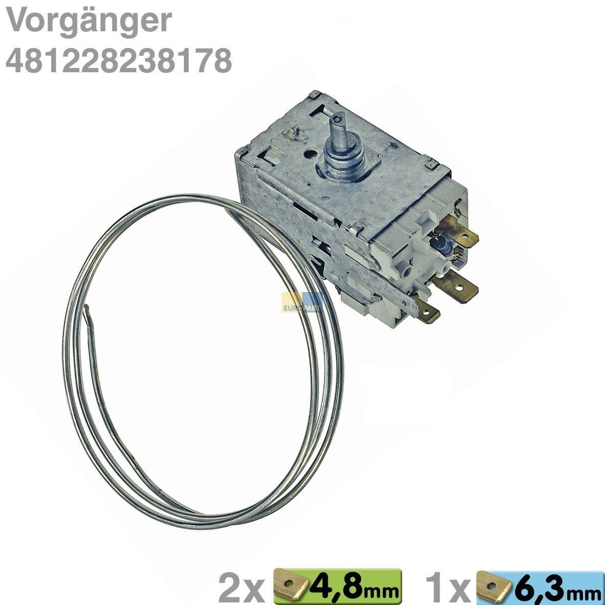 Termostato Ranco K59 de s2790/500 con casquillo a130700 WHP 481228238178: Amazon.es: Grandes electrodomésticos