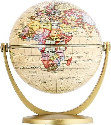 World Globe Piggy Bank Decorative Desktop Globe Rotating Geography Globe