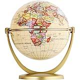 Exerz Mini Antique Globe 4-inch / 10 cm - Swivels in All Directions Educational, Decorative, Unique, Small World…