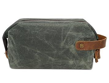 Amazon.com   Vigourtrader Travel Toiletry Bag For Men Designer Makeup Bag  Shaving Dopp Kit Cometic Bag Wax Canvas Waterproof   Beauty 031cff18912da