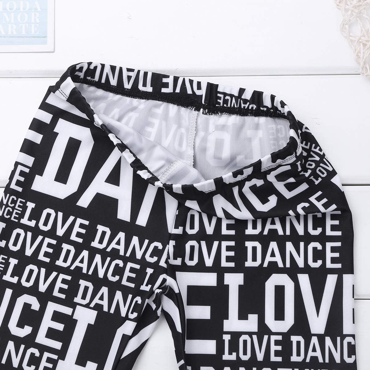 YiZYiF Kids Girls Dance Lover Slim Fit Stretchy Athletic Running Sports Leggings Activewear