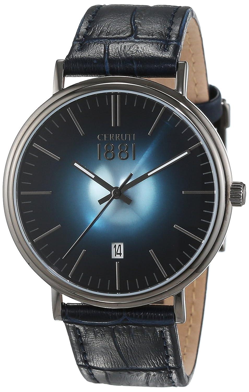 Cerruti 1881 Herren-Armbanduhr FABRIANO Analog Quarz Leder CRA111SU03BL