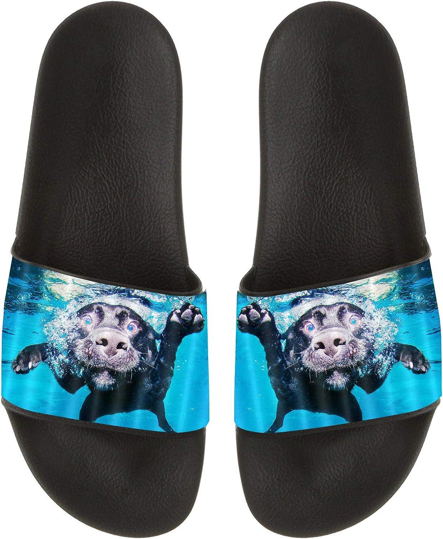 LOKIDVE Swimming Dog Slide Sandal Summer Beach Family Shower Indoor/&Outdoor Slippers for Men Women Kids