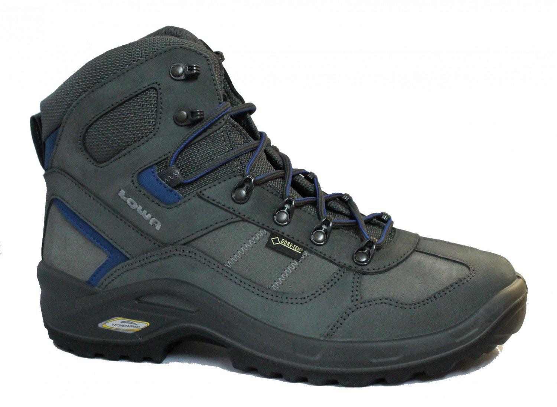 Lowa Herren Trekking-Schuh Stratton DLX GTX Mid Mid Mid All Terrain anthrazit   blau 5c71a5