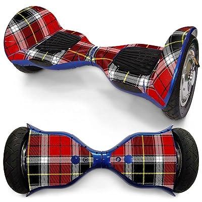 QJONKE Imperméable PVC Balance Autocollant Scooter pour 10 pouces Équilibrer la planche à roulettes