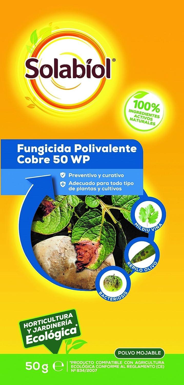 Solabiol Fungicida polivalente, Cobre Huerta, Amarillo, 50 g