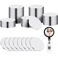 50 Stuks Sublimatie Blanco Aluminium Stickers voor Opvouwbare Telefoonhouders, Ronde Sublimatie Aluminiumplaten…