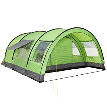 C&Feuer® - XXL Tunnel Tent 6 Person Green / Grey 5000 mm  sc 1 st  Amazon UK & CampFeuer® - XXL Tunnel Tent 6 Person Green / Grey 5000 mm ...