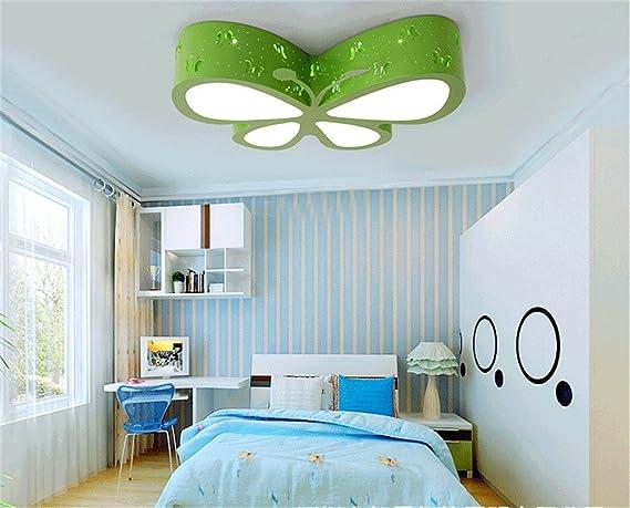 Cartoon camera da letto lampada da soffitto per bambini led farfalla