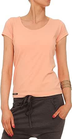 YULIYA BABICH fashion designer - Camisas - Casual - Básico - para mujer Naranja RAL2012 Salmon color 46: Amazon.es: Ropa y accesorios