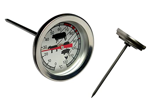 Termómetro de acero inoxidable para horno/carne - Medidor de ...