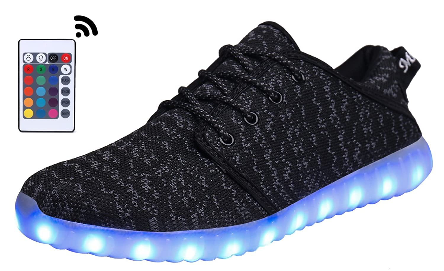 MOHEM ShinyNight LED Shoes Light Up USB Charging Flashing Sneakers