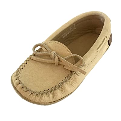 Laurentian Chief Women's Caribou Leather Moccasins | Slippers