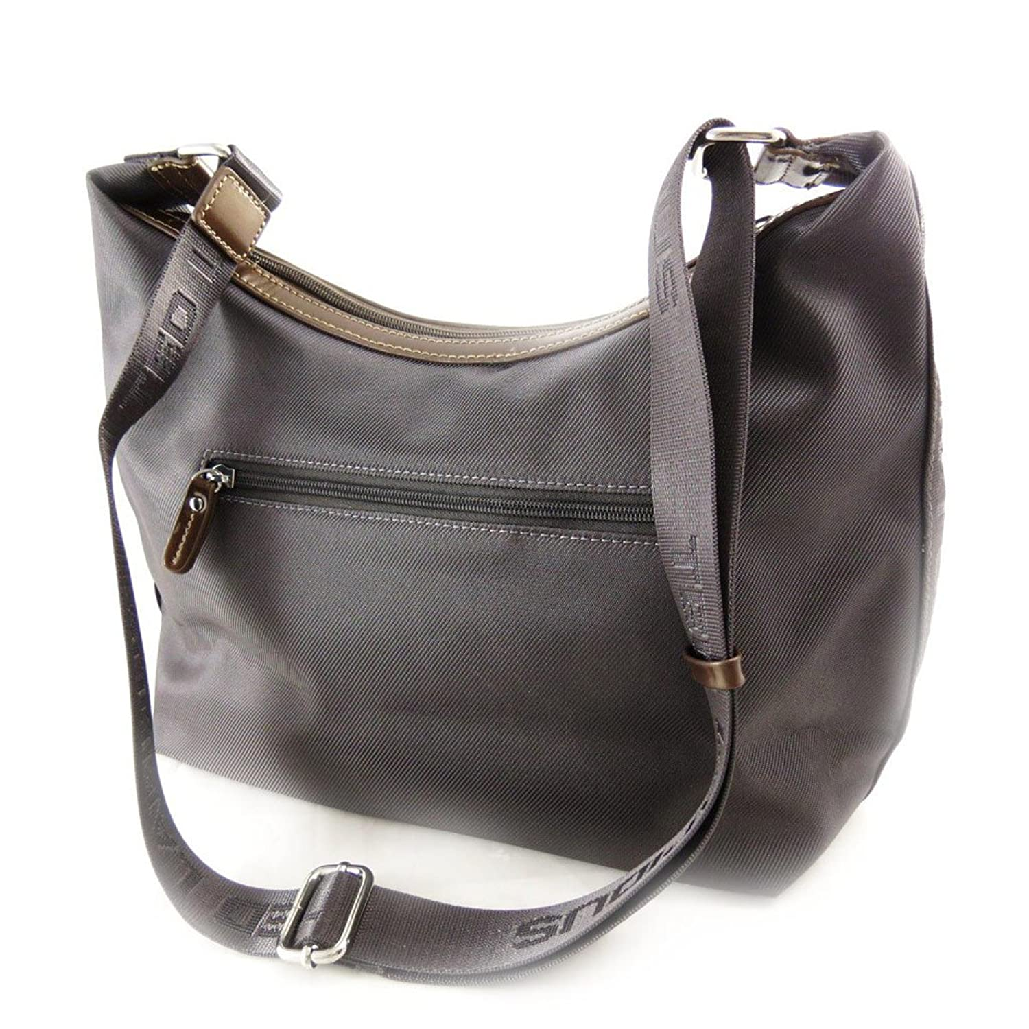 Ted Lapidus [J5071] - Sac besace 'Ted lapidus' gris taupe