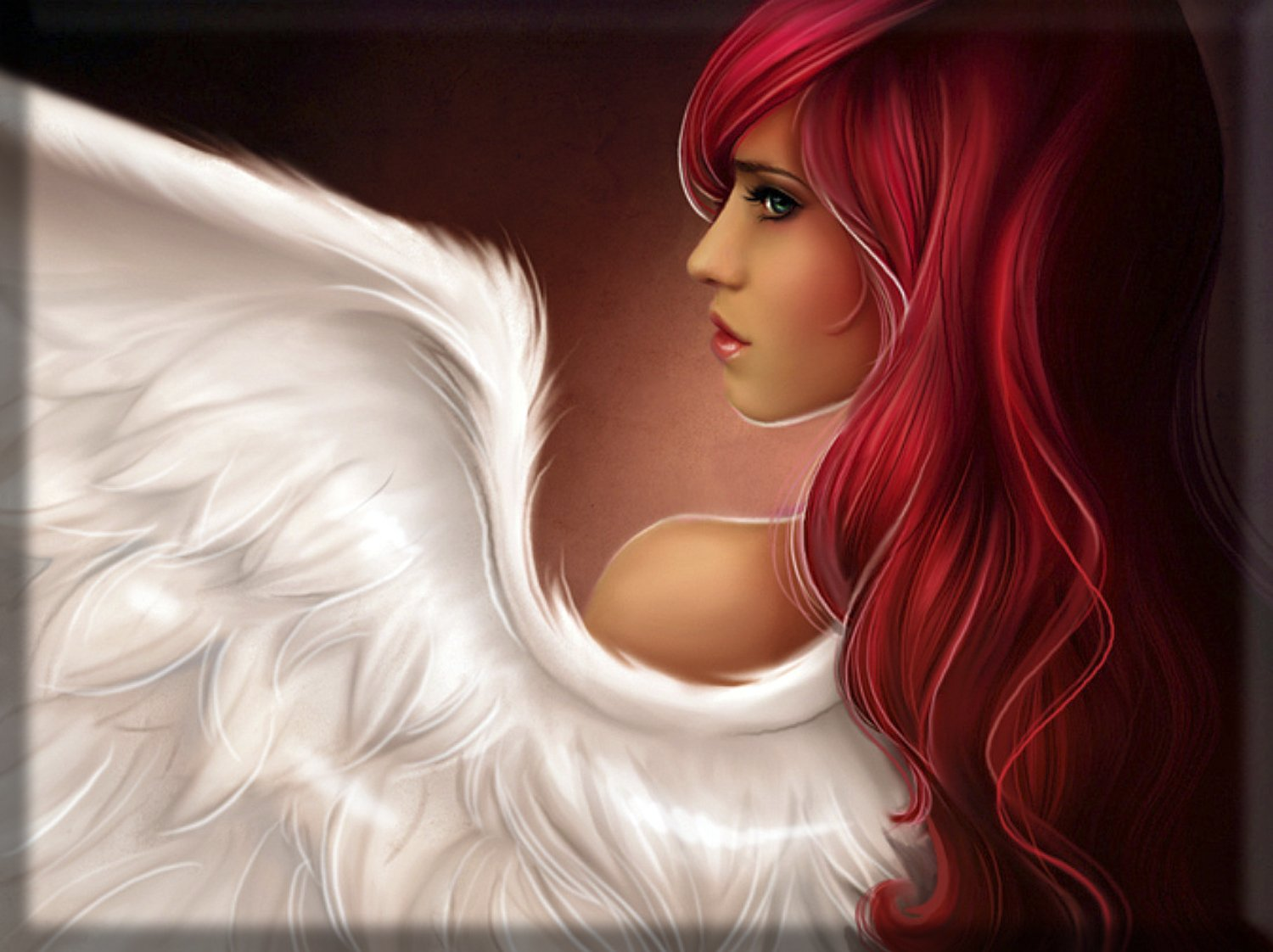 "Fantasy Angel Canvas Wall Art Fantasy Red Haired Angel 30"" x 20 ..."