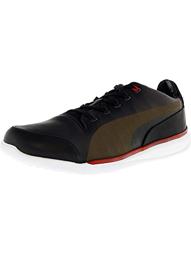0ae1f6d01dc477 PUMA Men s Ferrari Titolo Everfit+ Moonless Night Rosso Corsa Ankle-High  Leather Fashion Sneaker