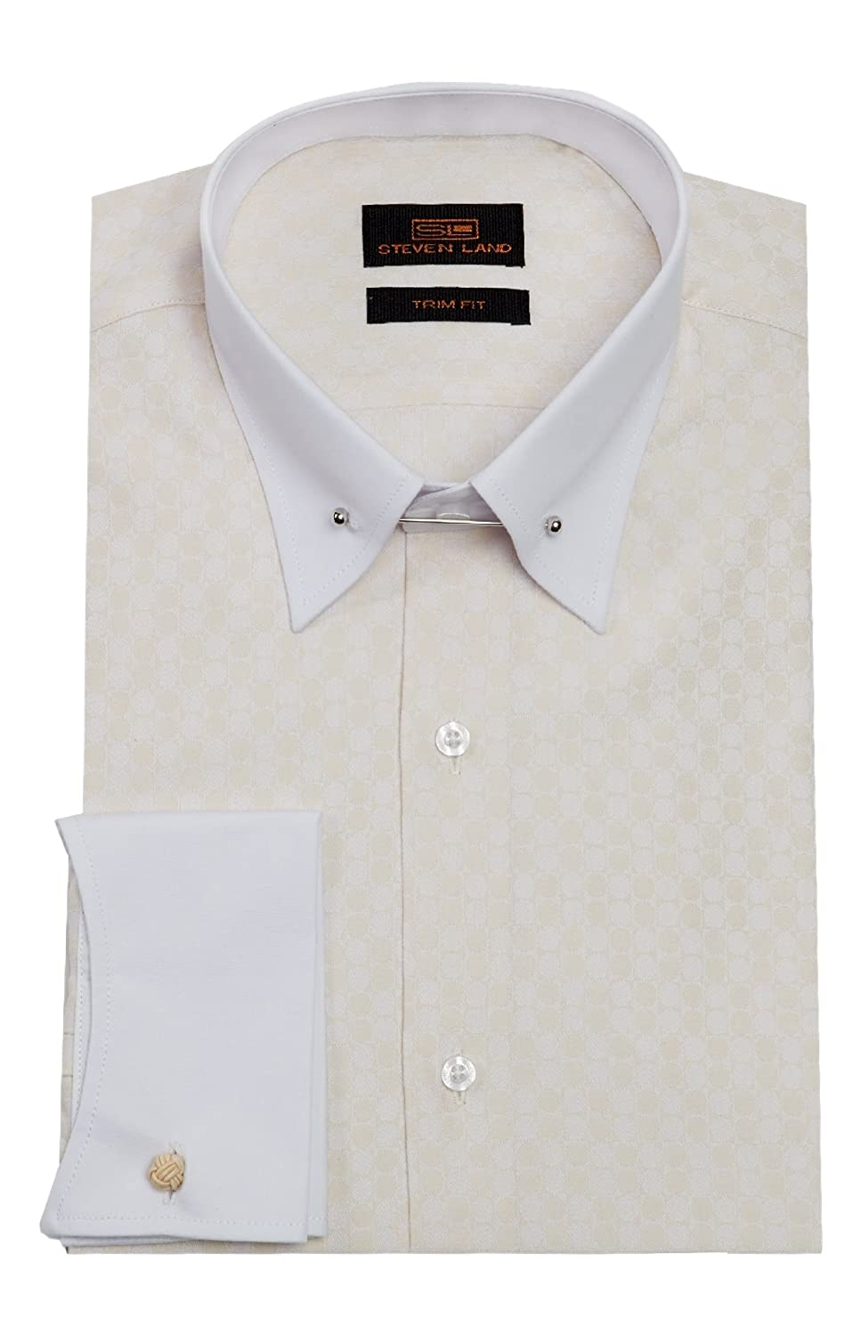 White French Cuff Dress Shirt With Collar Bar Bcd Tofu House
