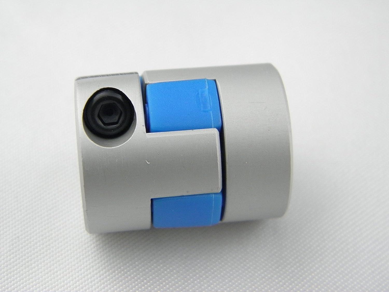 High Strength Flexiable Coupling Aluminium Alloy Plum Model Motor Shaft Coupler D20*L25 with Inner Diameter 8mm