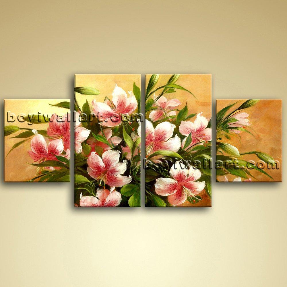 Amazon.com: Large Igor Levashov Flower Painting Wall Decor ...