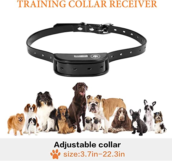 Black-A77 E-Collar up to 1800FT Remote Range Beep//Vibration//Shock 3 Training Modes,100/% Waterproof Shock Training Collar Dogs JIALANJIUYU Dog Training Collar,Rechargeable Shock Collar for Dogs