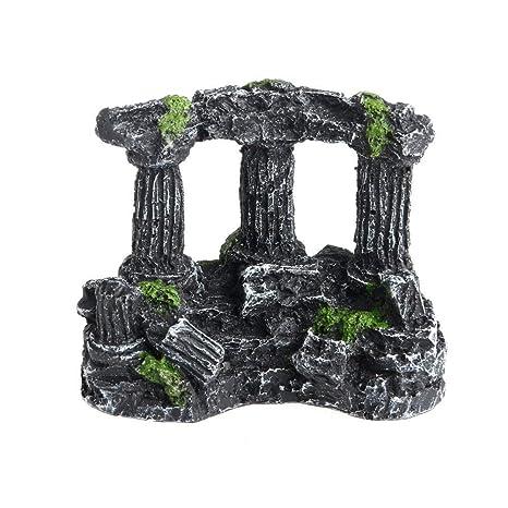 MSYOU - Adornos de Resina para Acuario, diseño de Columna Romana, decoración de Acuario