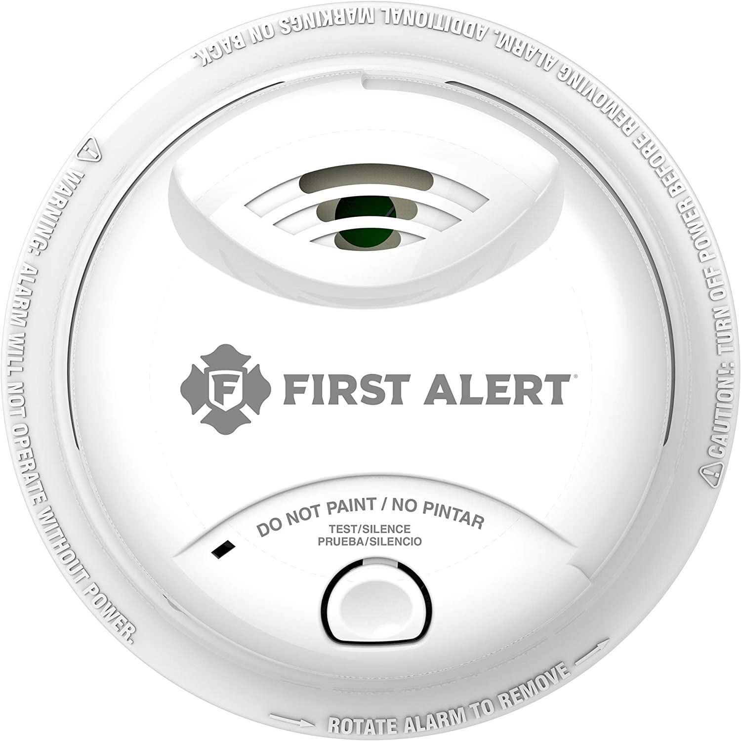 First Alert 10 Year Ionization Sensor Smoke Alarm 0827b White
