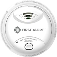 First Alert 0827B Ionization Smoke Alarm with 10-Year Sealed Tamper-Proof Battery , White