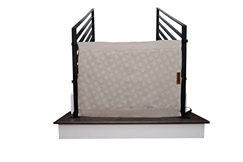 The Stair Barrier Baby and Pet Gate No-Drill Portable Banister to Banister Baby Gates – Safety Gates for Kids or Dogs – Fabric Baby Gate for Stairs with Banisters, New 2019