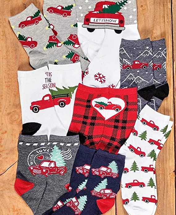 XIdan-die Womens Over-the-Calf Tube Socks Merry Christmas Snowflakes Moisture Wicking Casual Socks