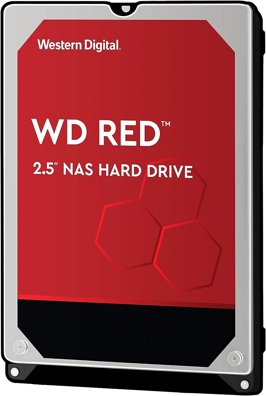 """Western Digital 1TB WD Red NAS Internal Hard Drive - 5400 RPM Class, SATA 6 Gb/s, CMR, 16 MB Cache, 2.5"""" - WD10JFCX"""