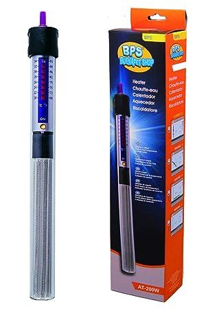 BPS (R) Calentador Sumergible 250W - 31.5cm para Pecera Calefacción de Varilla para