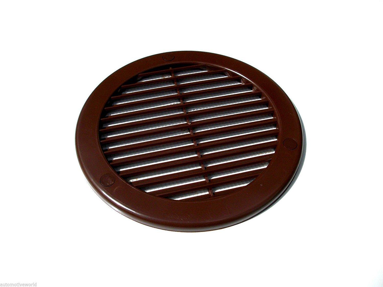 TRU13 Ventilation Grille, Diameter 100 mm, Round, Brown Awenta