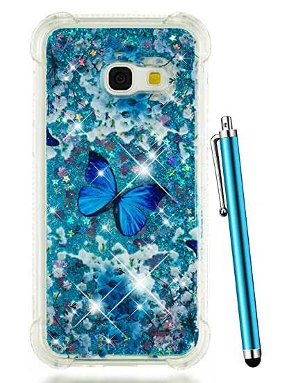 differently 667f8 9fce4 Galaxy J3 Emerge Glitter Case, J3 Prime Case 2017, CAIYUNL Glitter Liquid  Sparkle Clear Floating Bling Women Men Phone Cover Luxury Bumper for  Samsung ...