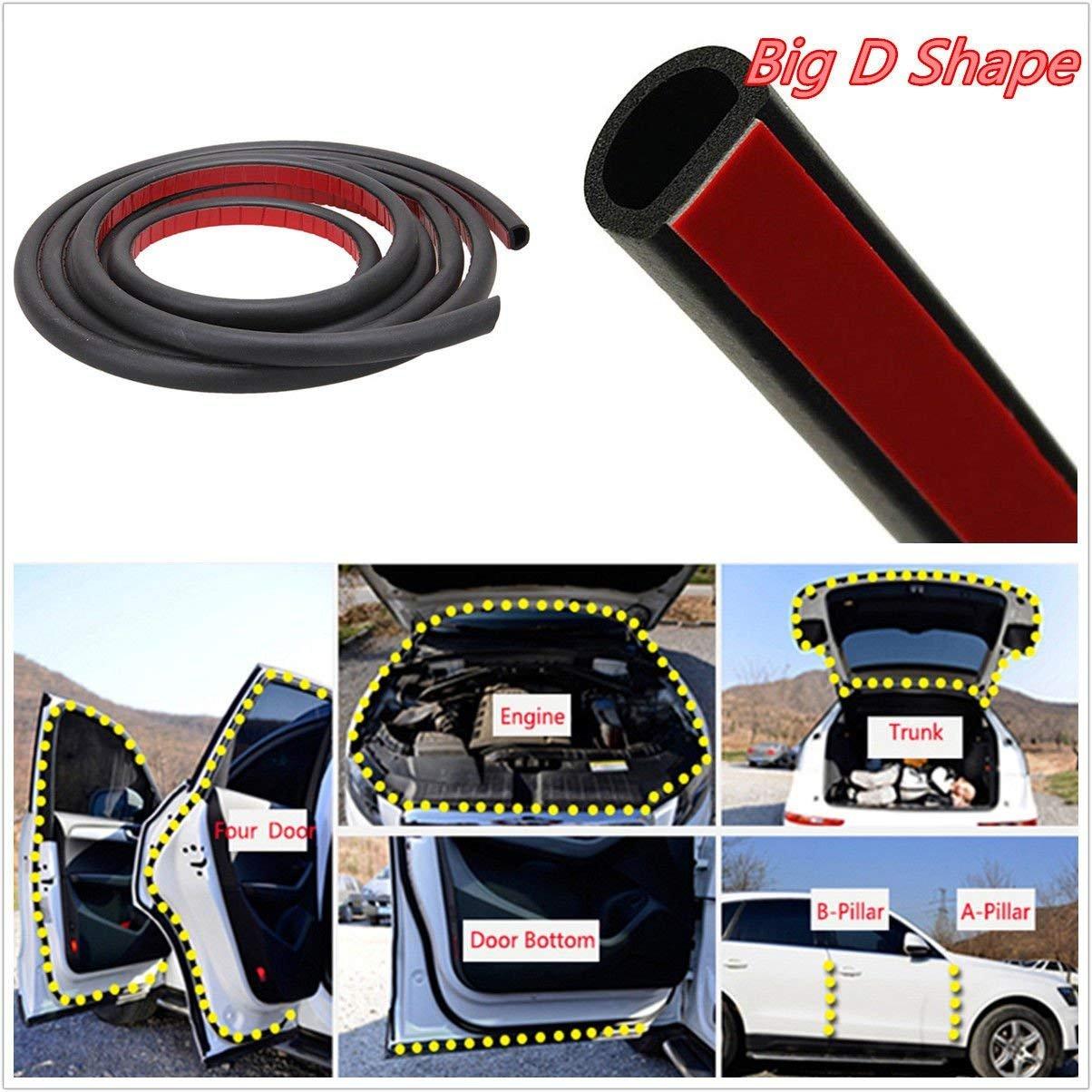 39Ft 12M D-shape Car Truck Motor Door Big D-shape Rubber Seal Weather Strip OEM Hollow Lasasa