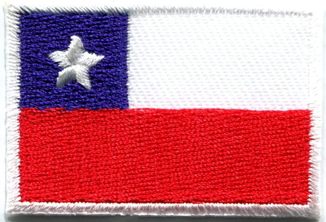 CHILE FLAG embroidered iron-on PATCH CHILEAN SOUTH AMERICAN EMBLEM applique