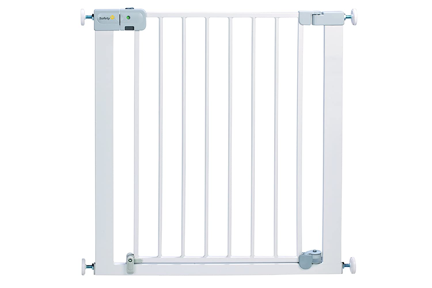 Safety 1st SecurTech Auto Close Metal Gate - White: Amazon.co.uk: Baby