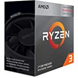AMD Ryzen 3 3200G, 3.7 GHz 4-Core/4 Threads AM4 Processor with Radeon RX Vega 11 Graphics and Wraith Stealth Cooler…