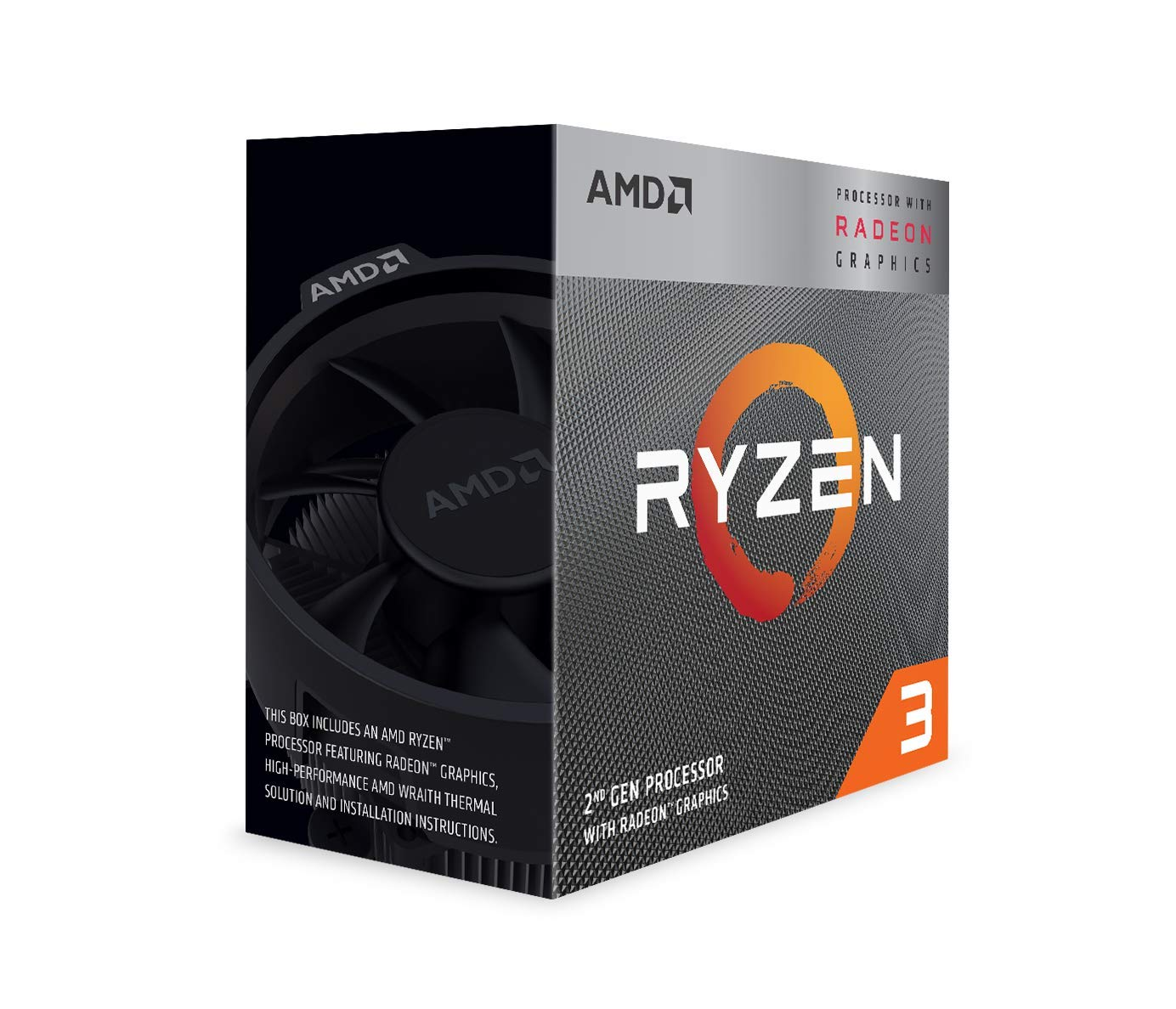 AMD Ryzen 3 3200G Processor (4C/4T, 6MB cache, 4 0GHz Max Boost) with  Radeon™ Vega 8 Graphics