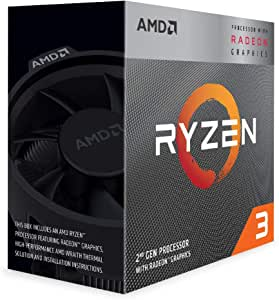 AMD Ryzen 3 3200G, 3.7 GHz 4-Core/4 Threads AM4 Processor with Radeon RX Vega 11 Graphics and Wraith Stealth Cooler, YD3200C5FHBOX