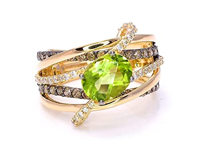 83f435c45 Image Unavailable. Image not available for. Color: LeVian Peridot Chocolate  Diamonds ...