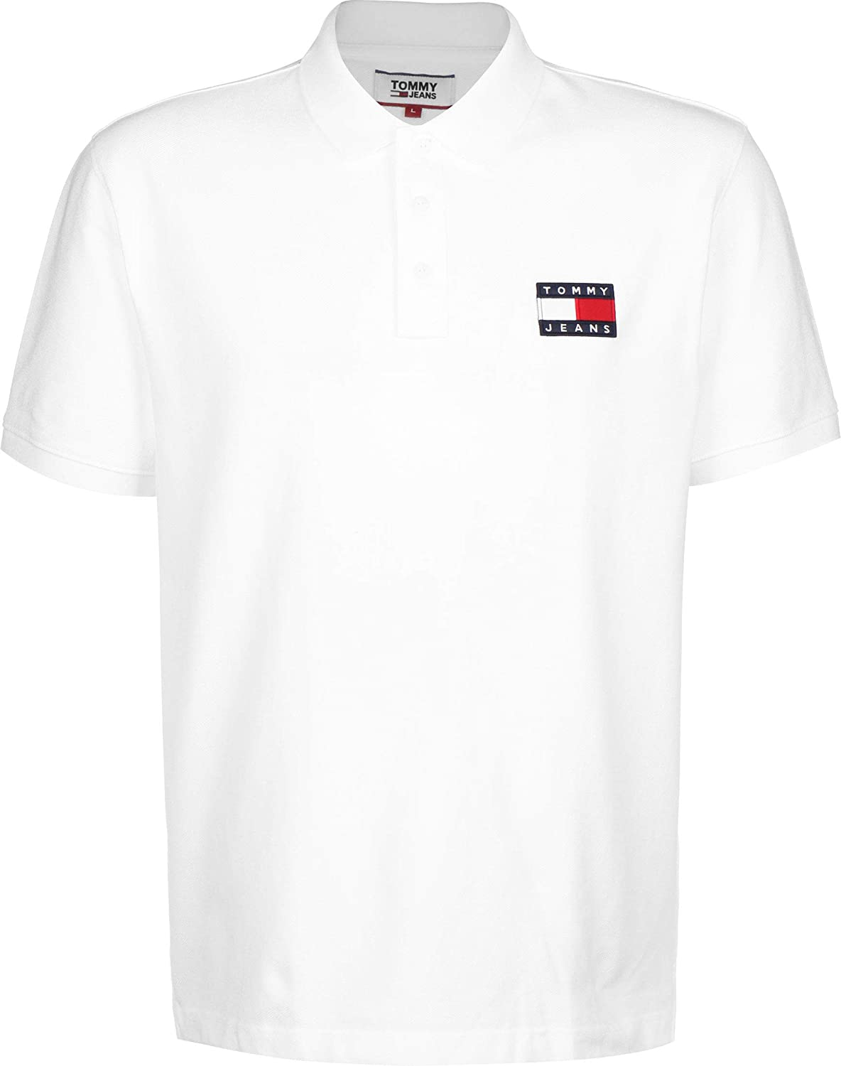 Polo Tommy Jeans Flag Blanco Hombre Small Blanco: Amazon.es: Ropa ...