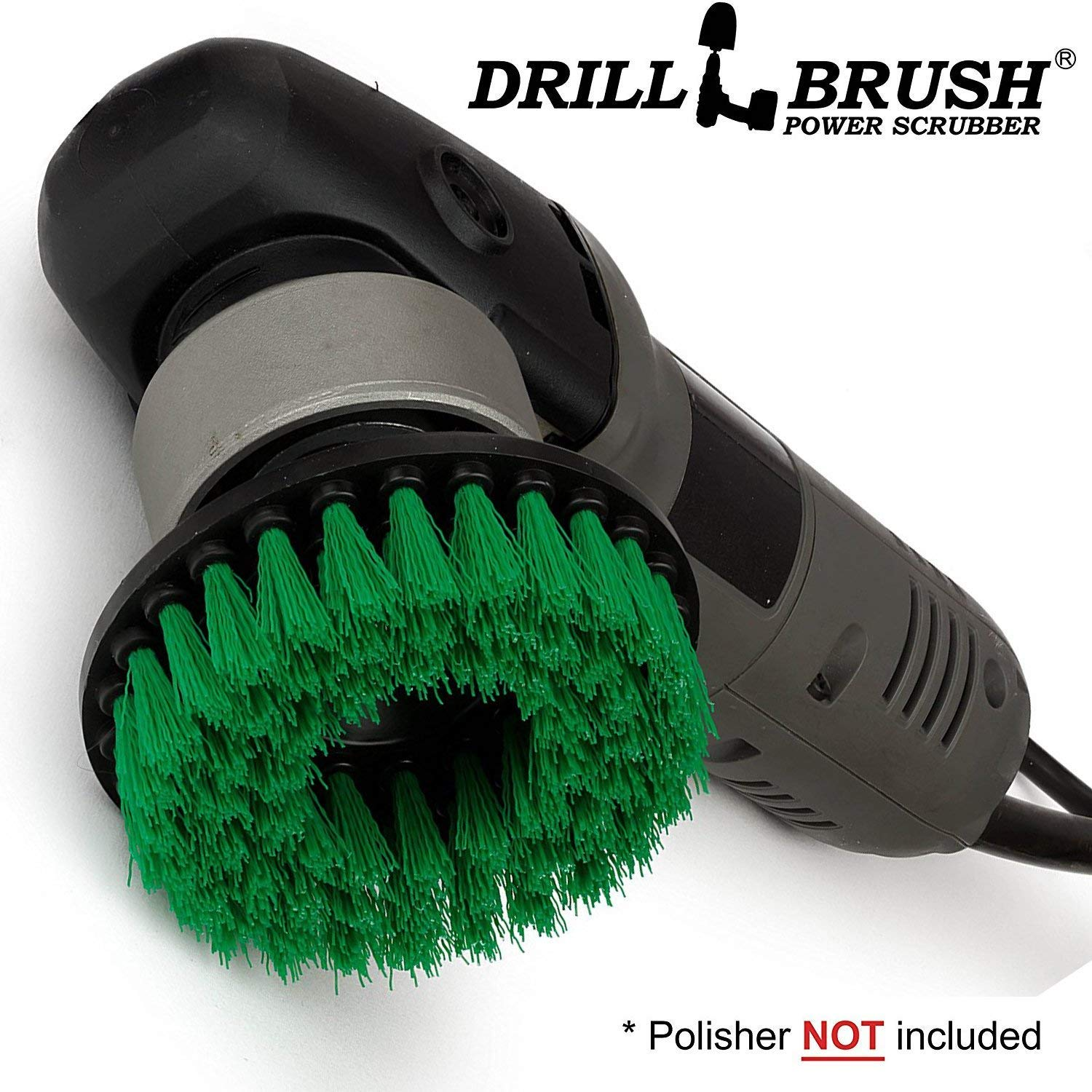 Drillbrush Construction Tools - Medium Scrub Brush - Threaded - 5/16 x 24 - fits Electric - Cordless - Air Pneumatic - Variable Speed - Dual Action - Orbital - Rotary - Buffer - Polisher – Machine VTU-DAG