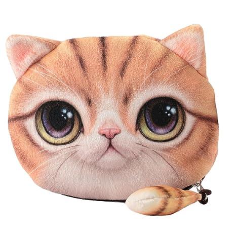Monedero / Cartera / Portamonedas / Bolsillo / Bolsita de maquillaje blando y suave para chicas y mujeres jóvenes con bonito diseño de Gatos / Gatitos ...