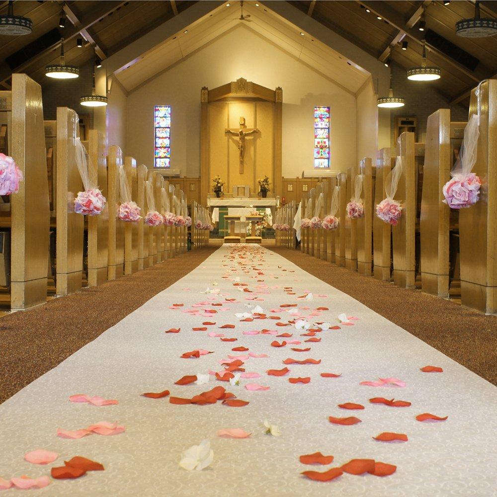 FIREFLY Non-Woven Wedding Aisle Runner, Premium, 36-inch x 100-ft