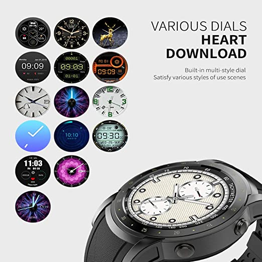 Amazon.com: WTGJZN HW1 Bluetooth Smart Watch 2018 Men Support SIM Card with Heart Rate Monitor Pedometer 3G WiFi Smartwatch GPS Wristwatch: Cell Phones & ...