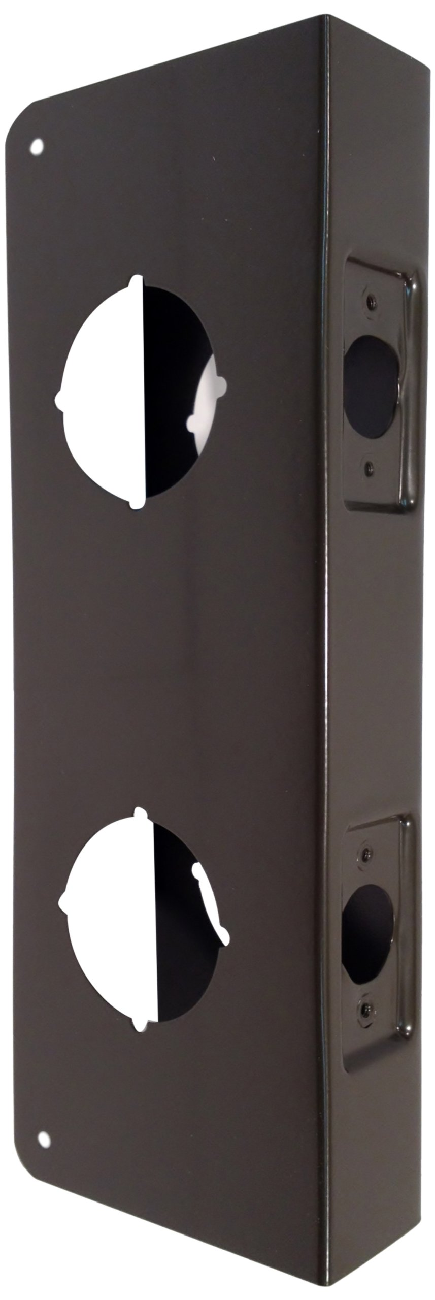 Don-Jo 256-CW 22 Gauge Stainless Steel Classic Wrap-Around Plate, Oil Rubbed Bronze Finish, 4'' Width x 12'' Height, 2-3/8'' Backset, 1-3/4'' Door Size, For Double Lock Combination Locksets (Pack of 10)