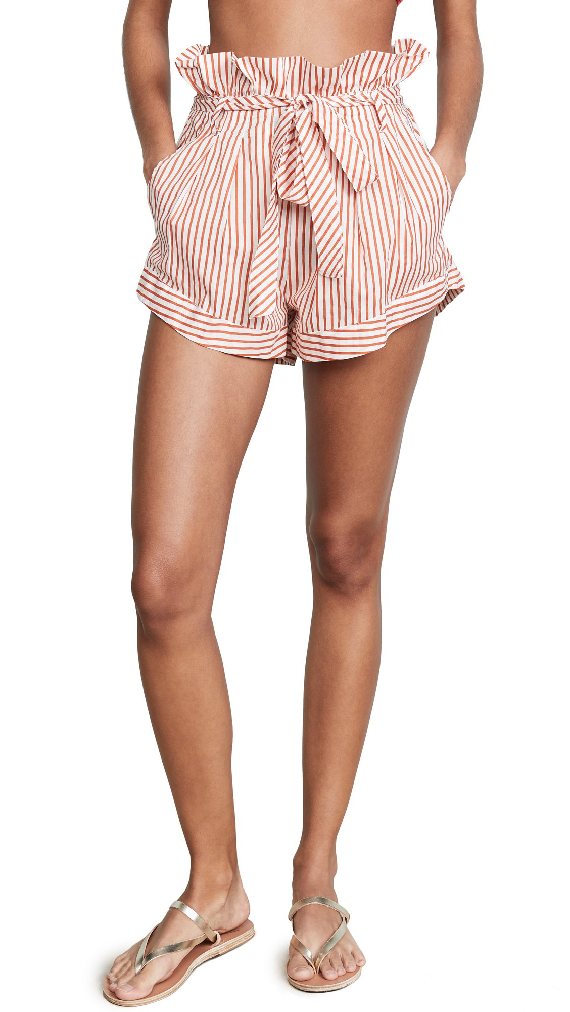 For Love & Lemons Women's Isla Striped Shorts, Stripe, Large by For Love & Lemons (Image #1)