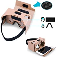 (10 Packs) Complete Google Cardboard V2 Version 2 Kit Virtual Reality (VR) 3D Glasses VR Box for iPhone and Android…