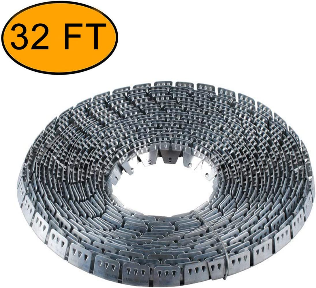Flex-Grip, Curve Ease- 32 ft Flexible Metal Tack Strip Three-Tooth Upholstery