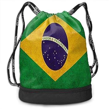 NI Brasil Flagunique Imprimir Mochila con cordón Ligero ...